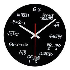 Equation Clock Wall Math Home Decor Acrylic Watch Wall Hanging Quartz Clock