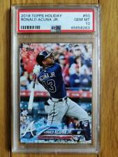 RONALD ACUNA 2018 Topps Holiday BAT DOWN SNOWFLAKE RC Rookie Card #50 PSA 10 GEM