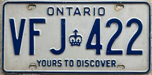 Ontario Yours To Discover Canada License Canadian Licence Number Plate VFJ 422