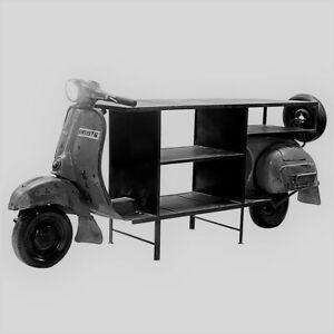 Roller Vespa Bar , Breite 260cm Metall Tisch Regal Sideboard Motorrad //487