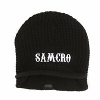 Sons Of Anarchy Samcro Logo Knit Visor Beanie Hat