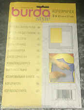BURDA Copy Tracing Carbon Paper Yellow & White or Blue & Red
