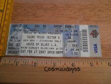 STS9 Sound Tribe Sector Nine 9 House of Blues La 2007 Original Concert Ticket