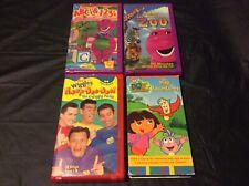 LOT 4 VHS - BARNEY'S ABC'S 123'S & ZOO / WIGGLES HOOP-DEE-DOO! / DORA'S MAP ADV