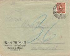 BERGEN, Briefumschlag 1949, Karl Bischoff Gartenbau