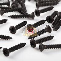 Phillips Oval Head Black Oxide Sheet Metal Screws #8 x 1''Qty500
