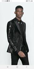 Zara Mens Sequin Back Dinner Jacket Blazer Size 42 chest