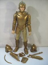 """VINTAGE MARX NOBLE KNIGHT SERIES SIR GORDON GOLD KNIGHT 11"""" ACTION FIGURE"""