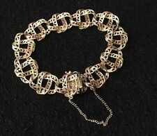 Hallmarked 9 ct 9k Or Jaune Celtique Staffordshire Lovers Knot Bracelet 24.8 G
