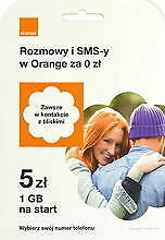Internet na Kartę Starter 5 Orange PrePaid SIM Card 50 GB - 14 dni
