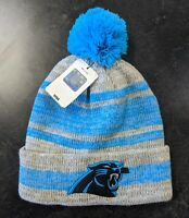 Official NFL Carolina Panthers Knit Hat With Pom