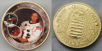 Neil Armstrong Mission Apollo 11 Moon Landing Gold Coin Space Exploration NASA