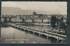 Schweiz SW-Foto AK als Drucksache 1935 von Genf nach Holland gelaufen