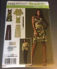 Simplicity 2938 Misses dress, top, slacks, jacket pattern size 10-18