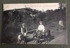CPA. EN MORVAN. 58 - Gardeurs de Chèvres. 1915
