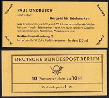 Berlin Markenheftchen 3 a  RLV VI  Typ A ** Dürer 1962  ungeöffnet  !!