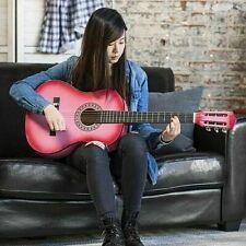 Guitarra Acustica Prinicipiantes Color Rosa con Funda y Accesorios Incluidos Sta