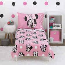 Disney Minnie Mouse Toddler Bed & Bedding Comforter Set Girl's Bedroom Furniture