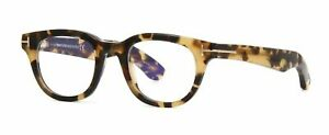 Tom Ford TF5558-B 055 Vintage Havana Blue Block Eyeglasses 46x21x145 Optical