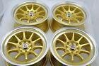 15 gold Wheels Accord Cooper Miata Civic Cobalt Integra Yaris 4x100 4x114.3 Rims