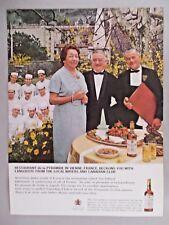 Restaurant de la Pyramide in Vienne PRINT AD - 1965 ~~~ Canadian Club Whiskey