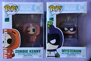 KENNY lot x2 Pop Vinyl FUNKO Zombie 05 MYSTERION 04 SOUTH PARK bundle cartoon