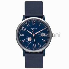 Fossil Original ES4107 Women's Vintage Muse Three-Hand Blue Leather Watch 40mm