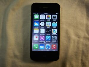 Black Apple iPhone 4s GSM Unlocked 8GB model A1387                          e7o
