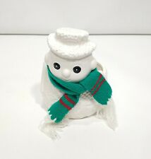 Vintage Ceramic Christmas Snowman Planter with a Scarf Cmc Japan