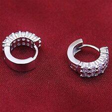 Gifts 1Pair Sliver Crystal Rhinestones Women Jewelry Earrings Lady