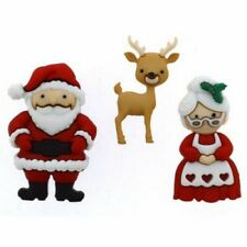 Dress it up MR & MRS CLAUS 9499 Buttons - 2 Packages  FREE US SHIPPING