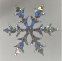 4 x FLOCON - ETOILE DE NEIGE  HOLOGRAPHIQUE thermocollant hotfix 3,5 cm