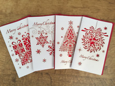 4 Paper Art Greeting Christmas Cards (4 Assorted Designs)