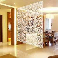 12X Hängende Leinwand Raumteiler Wandpaneele Trennwand Vorhang 40x40CM PVC Dekor