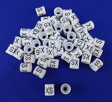 Xs Hanger Garment Size Marker Tag X-Small Sizer 50 Pieces Retail Store