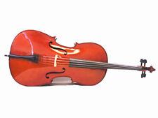 New beginner 4/4 Cello +Bow + Rosin + bag + Free Cello Strings