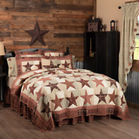 VHC Abilene Star Quilt (Your choice size and accessories) Primitive Star Rustic