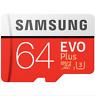 SAMSUNG EVO Plus U3 Carte Mémoire SDXC TF Card Carte MicroSD 100Mo/s