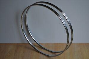 Vintage 80's Raleigh Pair of Chromed Steel Wheel Rims 700c 36 Holes