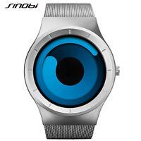 SINOBI Luxury Brand Watches Men's Business Quartz Wristwatches Mesh Strap Band
