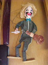 "FT4 Vintage String stringed puppet Mexican man playing guitar 15"" tall"