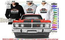 70-72 XY FALCON SEDAN HOODIE ILLUSTRATED CLASSIC RETRO MUSCLE SPORTS CAR
