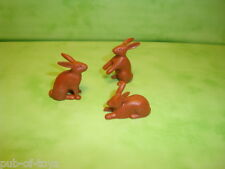 Playmobil : Lot de 3 lapins playmobil / rabbit