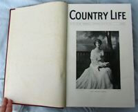 1904 COUNTRY LIFE MAGAZINE BOUND VOLUME JULY to DEC VOL 391 VOL 417 GOOD UK