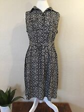 Valerie Bertinelli Woman's Dress Size 12 Black And White Sleeveless