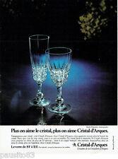 PUBLICITE ADVERTISING 115  1978  CRISTAL D'ARQUES verres série POMPADOUR