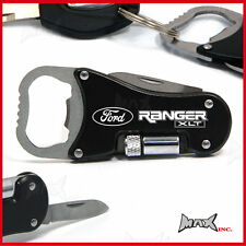 FORD RANGER XLT Lasered Logo Keyring / Pocket Knife / LED Torch / Bottle Opener