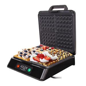Macchina Piastra Per Cialde Waffer Waffle Wafer 1500W CERAMICA ANTIADERENTE LED