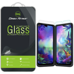 (3x Glass Main +3x PET Dual) Tempered Glass Screen Protector for LG G8X ThinQ