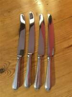 4 x Vintage Osbourne Silver Plated EPNS Beaded Design Table Knives A1 24cm